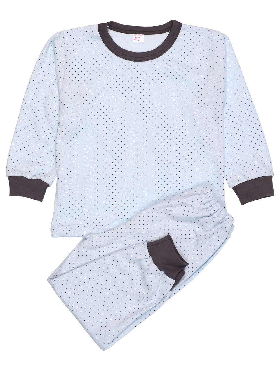 Пижама детская для мальчика, принт горох
