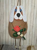 Собачка с розой Оригинальный подарок
