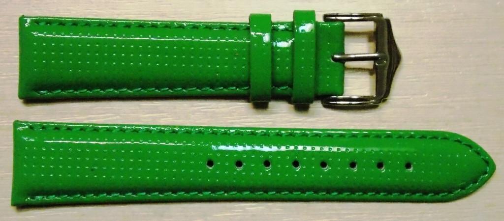 22 мм. Ремешок кожаный Verona (Италия) Зеленый