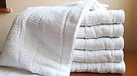 Банные белые махровые полотенца 70*140см