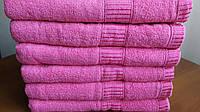 Лицевые махровые однотонные полотенца