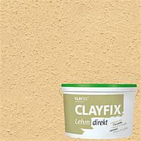Декоративна глиняна фарба дрібнозерниста CLAYFIX 4.2 золотиста охра, 10 кг