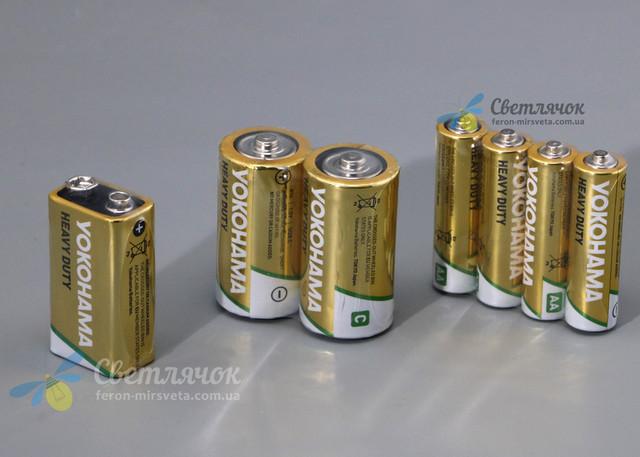 батарейки солевые heavy duty yokohama