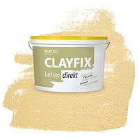 Декоративна глиняна фарба - штукатурка CLAYFIX 4.2 золотиста охра, 10 кг