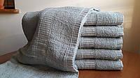Банные однотонные махровые полотенца