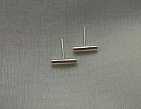 Толстая палочка - серебряные серьги