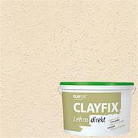 Декоративная глинянная краска мелкозернистая CLAYFIX 4.3 золотистая охра, 10 кг