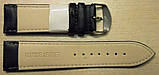 Ремешок кожаный NAGATA (ИСПАНИЯ) 24 мм, черный гладкий, фото 2