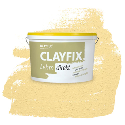 Декоративная глиняная краска- штукатурка CLAYFIX 4.3 золотистая охра, 10 кг