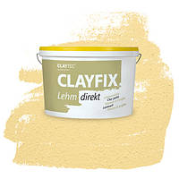 Декоративна глиняна фарба - штукатурка CLAYFIX 4.3 золотиста охра, 10 кг