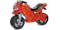 Мотоцикл 2-х колесный красный, толокар