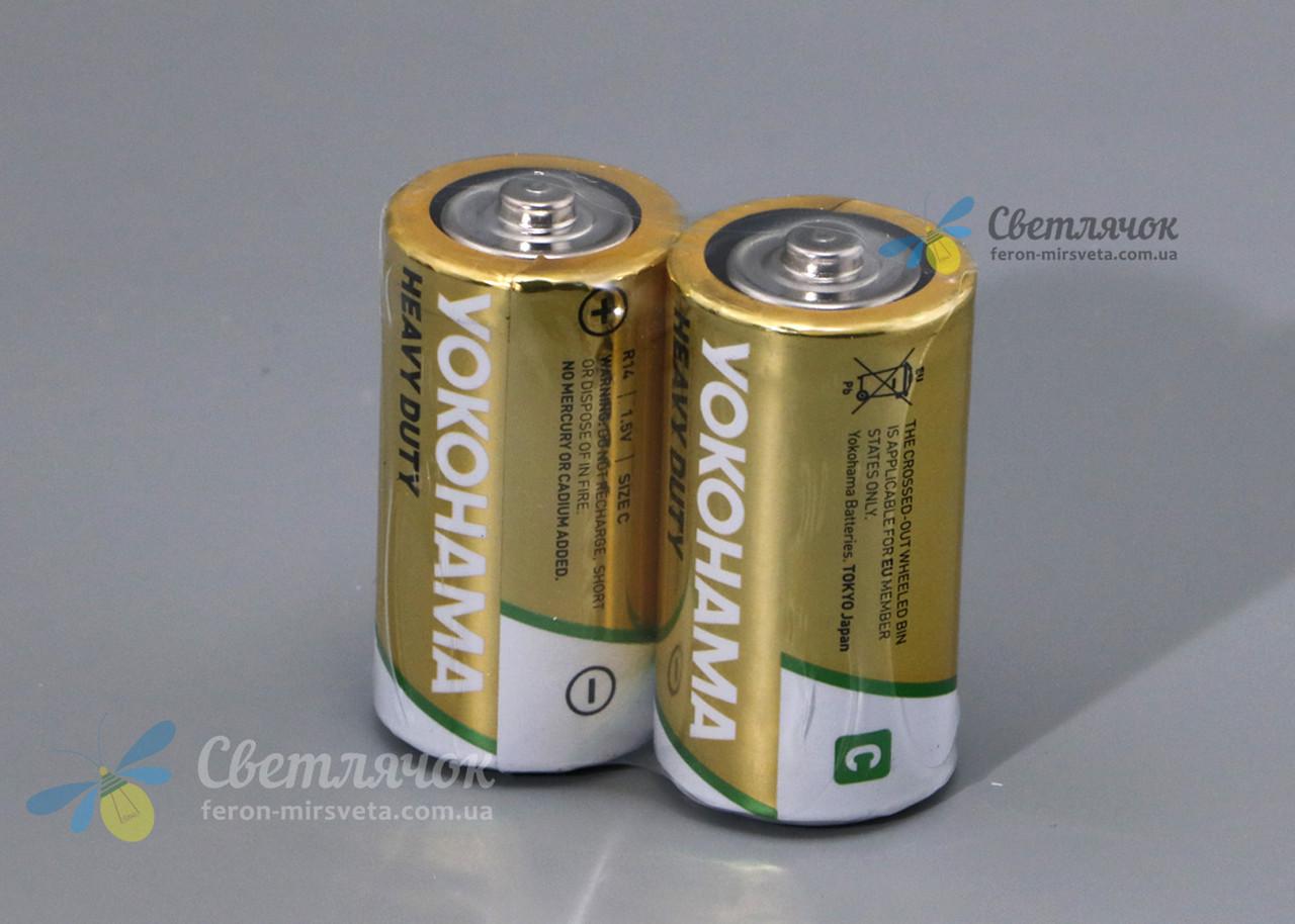 Батарейка R14 1.5V HEAVY DUTY(солевая) YOKOHAMA