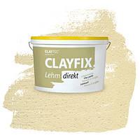 Декоративна глиняна фарба - штукатурка CLAYFIX 2.2 очеретяно-жовтий, 10 кг