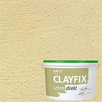 Декоративная глинянная краска мелкозернистая CLAYFIX 2.2 тростниково-желтый, 10 кг
