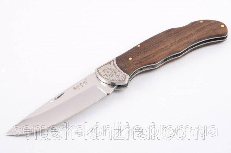 Нож складной Класика. Деревянная ручка(полисандра). Нож туриста и охотника.