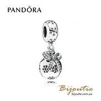 Pandora Шарм-подвеска НОВОГОДНИЙ ШАР #791410CZ серебро 925 Пандора оригинал