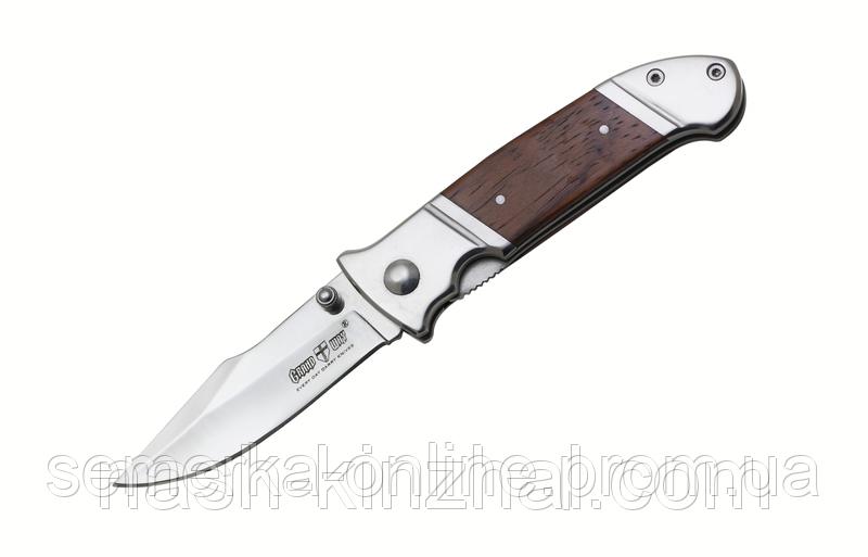 Складной нож, лезвие MIRROR POLISH. Очень удобный нож для туризма или охоты.