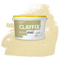 Декоративна глиняна фарба - штукатурка CLAYFIX 1.2 нефритовий, 10 кг