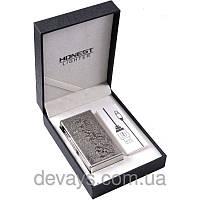 Электроимпульсовая USB зажигалка Honest №4339,зажигалки, без огня. с аккумулятором, без пламени, подарочная