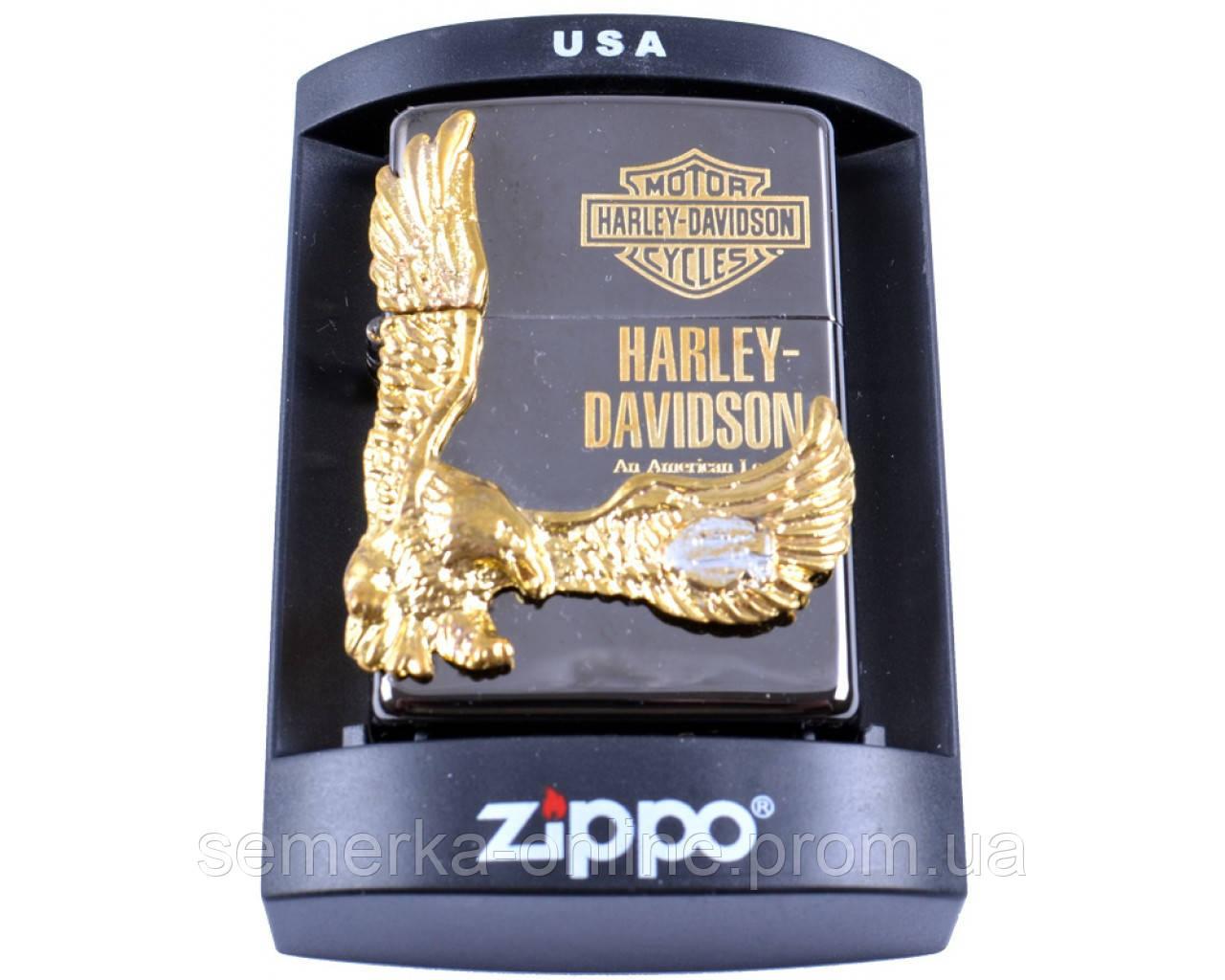 Зажигалка фирменная бензиновая Zippo Harley-Davidson №4208.  Запальничка. Зажигалка очень качественная.