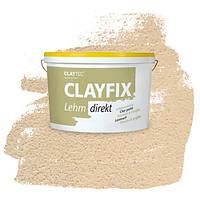 Декоративна глиняна фарба - штукатурка CLAYFIX 1.2 коричнева охра, 10 кг