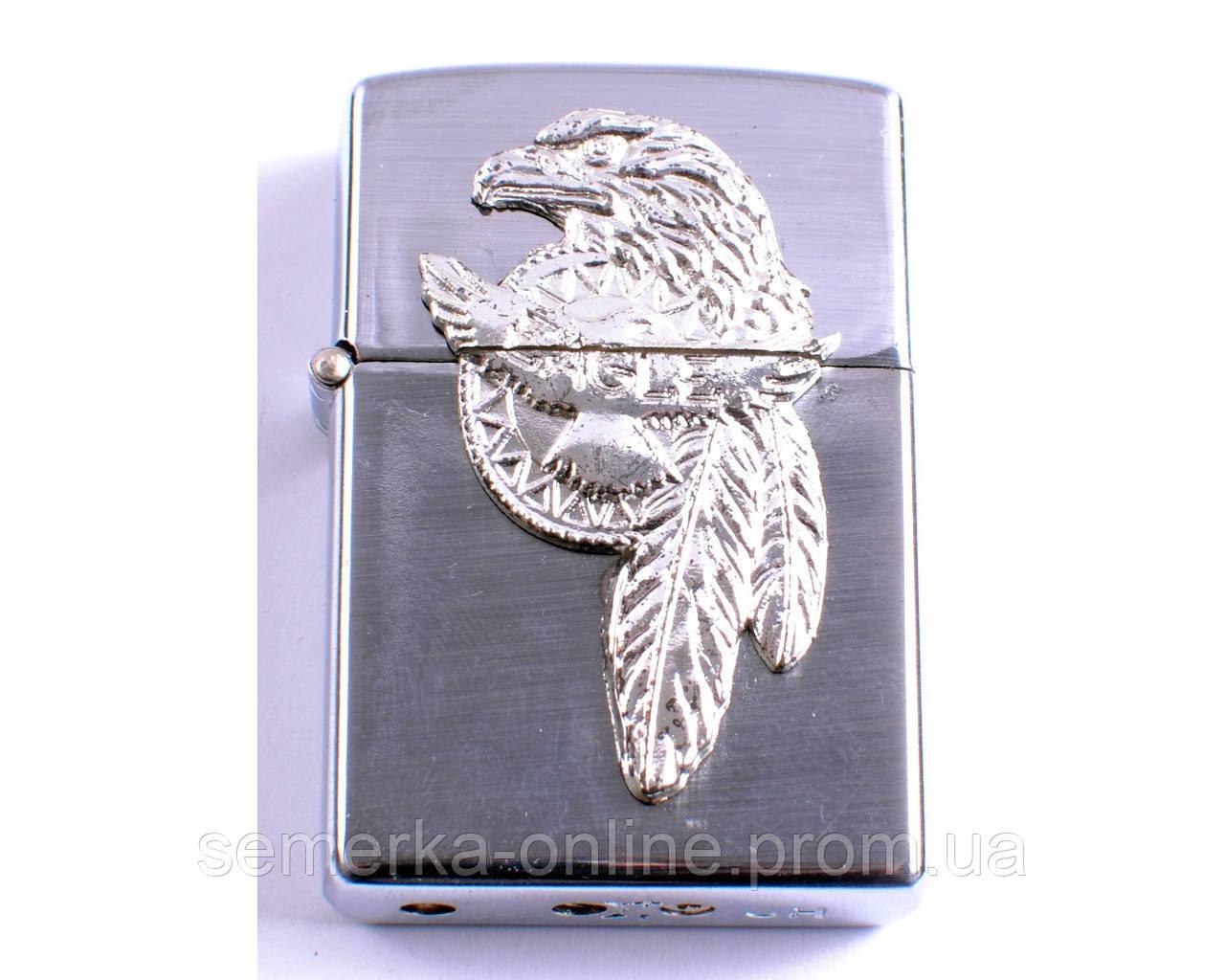 """Зажигалка фирменная, качественная """"Jinhong"""" парящий орел №0252-3. Острое пламя"""