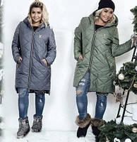 Зимняя стеганая куртка размер 50, 52, 54, 56 (К20380)