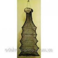 Рыбацкий садок из кордовой нити из 5 колец в чехле.