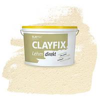 Декоративна глиняна фарба - штукатурка CLAYFIX состаренно білий, 10 кг