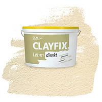 Декоративна глиняна фарба - штукатурка CLAYFIX 3.1 сірий, 10 кг