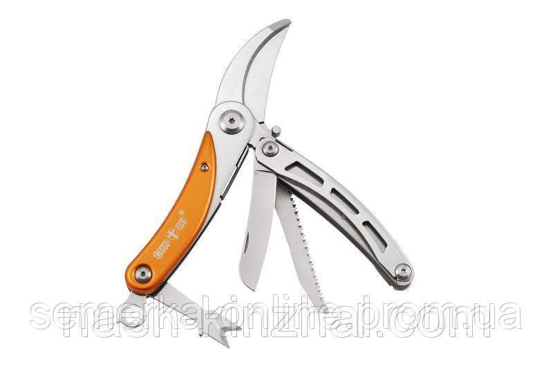 Многоцелевой нож спецназначения. Мультитул с сикатором. Многофункциональный нож для дома и сада.