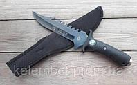 Полевой нож для мужчины. Нож наточенный армейский. Нескладной удобный нож с компасом.