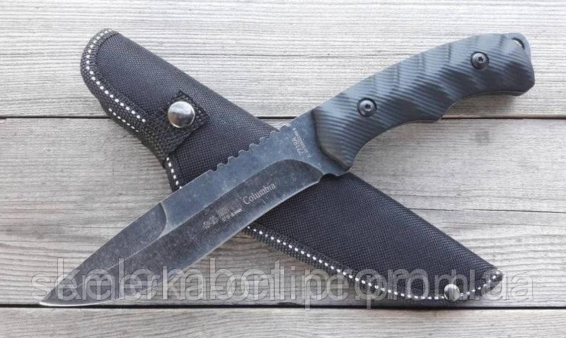 Нож Соlumbia для выживания. Армейский ножик спецназ Заточен. Очень удобный и прочный. Нескладной.