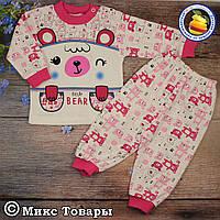 Костюм- пижамка для маленьких девочек Размеры: 6 и 12 месяцев (5854-3)