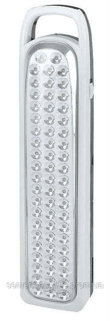 Светодиодный фонарь аккумуляторный YJ-6828 на 62 диода. LED фонарь аварийный походный. Яркий свет.
