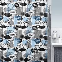 Шторка д/ванной peva WOW чорный/синий