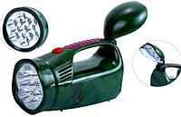 Фонарь светодиодный аккумуляторный YJ-2809 аварийный дорожный фонарь.