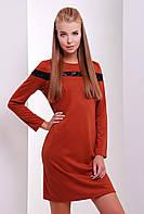 Платье 1626 кирпичный