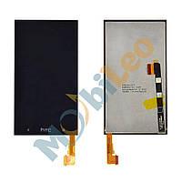 Дисплей (LCD) HTC One M7 Dual Sim 802w с сенсором черный