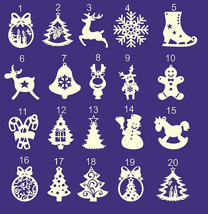 Новогодние елочные игрушки из фанеры и дерева 2020 (КАТАЛОГ), фото 2