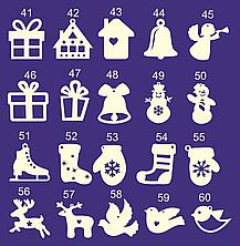 Новогодние елочные игрушки из фанеры и дерева 2020 (КАТАЛОГ), фото 3