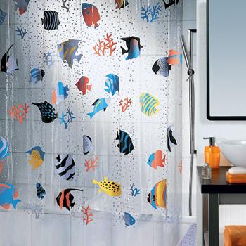 Шторка д/ванной Fish pvc 180х200 разноцветная