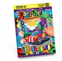 Набор фреска из цветного песка sand art
