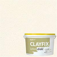 Декоративная глинянная краска мелкозернистая CLAYFIX 0 белая, 10 кг