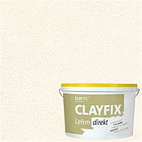 Декоративна глиняна фарба дрібнозерниста CLAYFIX біла 0, 10 кг