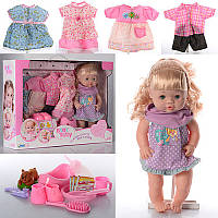 Пупс кукла 39 см baby born интерактивный, сестричка беби бернсаксессуарами, звук, одежда 4 комплекта, 30800, фото 1