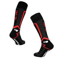 Лыжные носки Radical Pro Series (original), зимние термоноски, высокие чёрно-красные