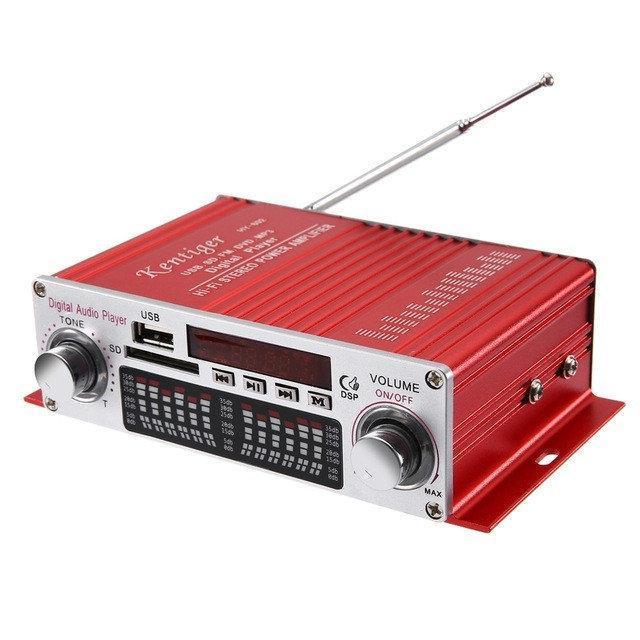 HiFi мини стерео 2-х канальный усилитель HY-602, USB, MP3, FM