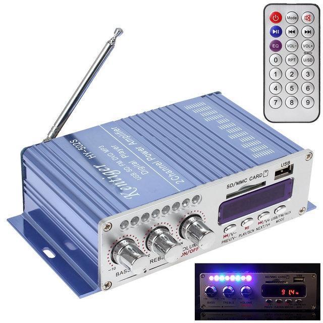 HiFi мини стерео 2-х канальный усилитель HY-502, USB, MP3, FM