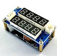 DC-DC CC/CV стабилизатор понижающий регулируемый 5-32В - 1.27-30В, 5А с двойным ЖК экраном